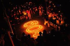 γήινη ώρα κεριών Στοκ Εικόνες