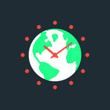 Γήινη ώρα με τον πράσινο πλανήτη ελεύθερη απεικόνιση δικαιώματος