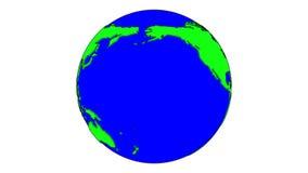 Γήινος βρόχος κινούμενων σχεδίων φιλμ μικρού μήκους
