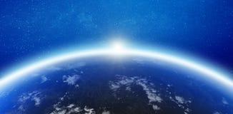 Γήινος ορίζοντας ατμόσφαιρας απεικόνιση αποθεμάτων