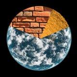 γήινος πλανήτης έννοιας Στοκ Φωτογραφίες