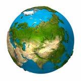 γήινος πλανήτης της Ασίας Στοκ Εικόνες