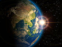 γήινος πλανήτης Στοκ εικόνες με δικαίωμα ελεύθερης χρήσης