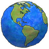γήινος πλανήτης Στοκ Εικόνες