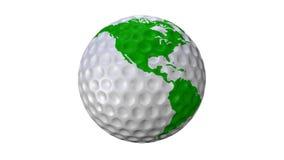 Γήινος πράσινος βρόχος Golfball απόθεμα βίντεο