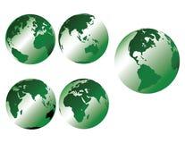 γήινος πράσινος μεταλλι&k ελεύθερη απεικόνιση δικαιώματος