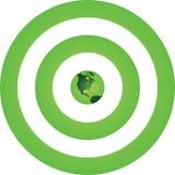 γήινος πράσινος στόχος Στοκ Φωτογραφίες