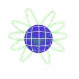 Γήινος πρότυπος και δυαδικός κώδικας Στοκ φωτογραφία με δικαίωμα ελεύθερης χρήσης