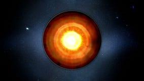 Γήινος πυρήνας εσωτερική δομή με τα γεωλογικά στρώματα Ρεαλιστική τρισδιάστατη ζωτικότητα απεικόνιση αποθεμάτων