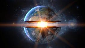 Γήινος πυρήνας εσωτερική δομή με τα γεωλογικά στρώματα τρισδιάστατη απόδοση Στοκ Εικόνες