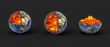 Γήινος πυρήνας απεικόνιση αποθεμάτων