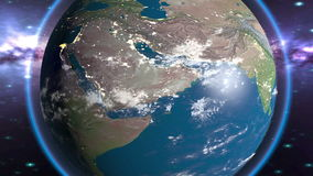 Γήινος πλανήτης μέρα και νύχτα στο βρόχο φιλμ μικρού μήκους