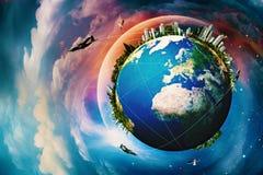 Γήινος πλανήτης. Στοκ φωτογραφίες με δικαίωμα ελεύθερης χρήσης