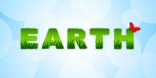 Γήινος τίτλος στο μπλε απεικόνιση αποθεμάτων