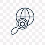 Γήινο διανυσματικό εικονίδιο που απομονώνεται στο διαφανές υπόβαθρο, γραμμικό αυτί ελεύθερη απεικόνιση δικαιώματος