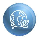 Γήινο εικονίδιο σφαιρών Eco, ύφος περιλήψεων ελεύθερη απεικόνιση δικαιώματος