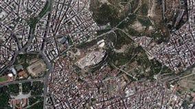 Γήινο ζουμ στην ακρόπολη Αθήνα Ελλάδα ζουμ έξω απόθεμα βίντεο