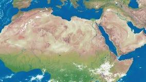 Γήινο ζουμ στη βόρεια Αφρική απεικόνιση αποθεμάτων