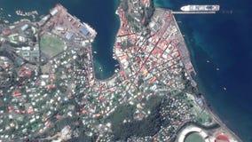 Γήινο ζουμ στο ζουμ έξω Άγιος George Γρενάδα απόθεμα βίντεο