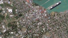 Γήινο ζουμ στο ζουμ έξω Άγιος John Αντίγκουα και Μπαρμπούντα φιλμ μικρού μήκους