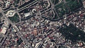 Γήινο ζουμ στο ζουμ έξω Βουκουρέστι Ρουμανία απόθεμα βίντεο