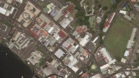 Γήινο ζουμ στο ζουμ έξω Kingstown Άγιος Βικέντιος και Γρεναδίνες διανυσματική απεικόνιση
