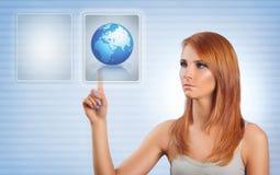 Γήινο κουμπί Στοκ εικόνα με δικαίωμα ελεύθερης χρήσης
