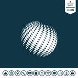 Γήινο λογότυπο - ημίτοή επίδραση Στοκ Εικόνες