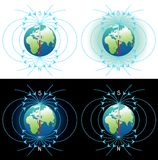 γήινο πεδίο μαγνητικό Στοκ Εικόνες
