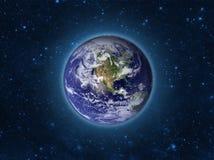 Γήινο πρότυπο σφαιρών τή νύχτα Στοιχεία της εικόνας που εφοδιάζονται από τη NASA διανυσματική απεικόνιση