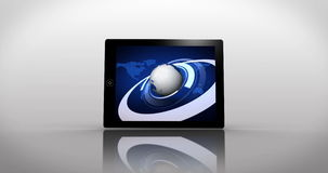 Γήινο montage που επιδεικνύεται στις διαφορετικές οθόνες μέσων ελεύθερη απεικόνιση δικαιώματος