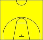 γήπεδο μπάσκετ Στοκ Εικόνα