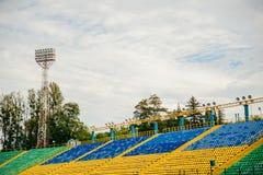 Γήπεδο ποδοσφαίρου εδρών Στοκ φωτογραφίες με δικαίωμα ελεύθερης χρήσης