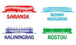 Γήπεδο ποδοσφαίρου Ρωσία 2018 απεικόνιση αποθεμάτων