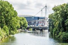 Γήπεδο ποδοσφαίρου χιλιετίας στο κέντρο του Κάρντιφ, Ουαλία, UK Στοκ Φωτογραφίες