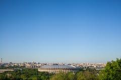 Γήπεδο ποδοσφαίρου Luzhniki μια ηλιόλουστη ημέρα Στοκ φωτογραφίες με δικαίωμα ελεύθερης χρήσης