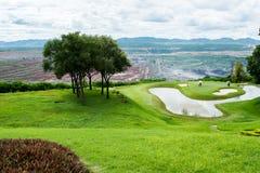 Γήπεδο του γκολφ στην επαρχία στοκ φωτογραφία με δικαίωμα ελεύθερης χρήσης