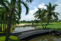 Γήπεδο του γκολφ στην Ταϊλάνδη στοκ φωτογραφία