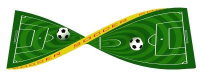 Γήπεδο ποδοσφαίρου ή αγωνιστικός χώρος ποδοσφαίρου, συστροφή απεικόνιση αποθεμάτων