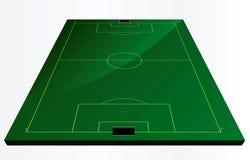 Γήπεδο ποδοσφαίρου ή αγωνιστικός χώρος ποδοσφαίρου απεικόνιση αποθεμάτων