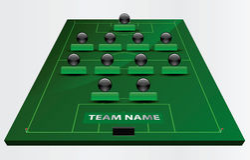 Γήπεδο ποδοσφαίρου ή αγωνιστικός χώρος ποδοσφαίρου διανυσματική απεικόνιση