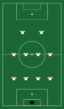 Γήπεδο ποδοσφαίρου με το σχηματισμό ομάδων Στοκ φωτογραφία με δικαίωμα ελεύθερης χρήσης