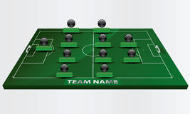 Γήπεδο ποδοσφαίρου Στοκ εικόνες με δικαίωμα ελεύθερης χρήσης