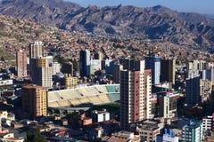 Γήπεδο ποδοσφαίρου Hernando Siles στο Λα Παζ, Βολιβία Στοκ εικόνες με δικαίωμα ελεύθερης χρήσης