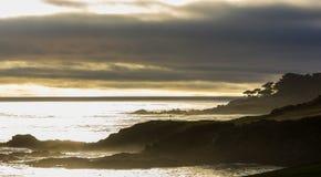 Γήπεδο του γκολφ παραλιών χαλικιών, Monterey, Καλιφόρνια, ΗΠΑ στοκ εικόνες