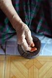 Γήρανση δερμάτων, ηλικιωμένη Στοκ φωτογραφία με δικαίωμα ελεύθερης χρήσης