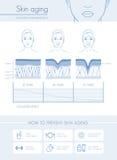Γήρανση δερμάτων διανυσματική απεικόνιση