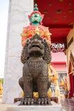 Γίγαντας και leo Buddhistsm ο φύλακας του ναού Στοκ φωτογραφία με δικαίωμα ελεύθερης χρήσης