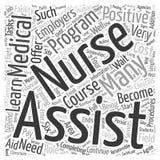 Γίνετε ένα διανυσματικό υπόβαθρο έννοιας σύννεφων λέξης νοσοκόμων βοηθητικό απεικόνιση αποθεμάτων