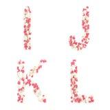 γίνοντας αγάπη βαλεντίνος καρδιών ημέρας αλφάβητου Στοκ Εικόνες